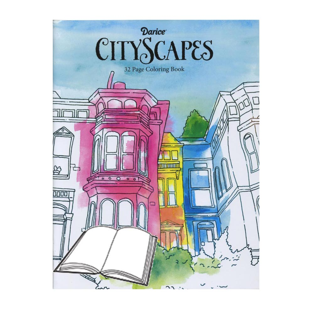 Cityscapes Coloring Book Homesew