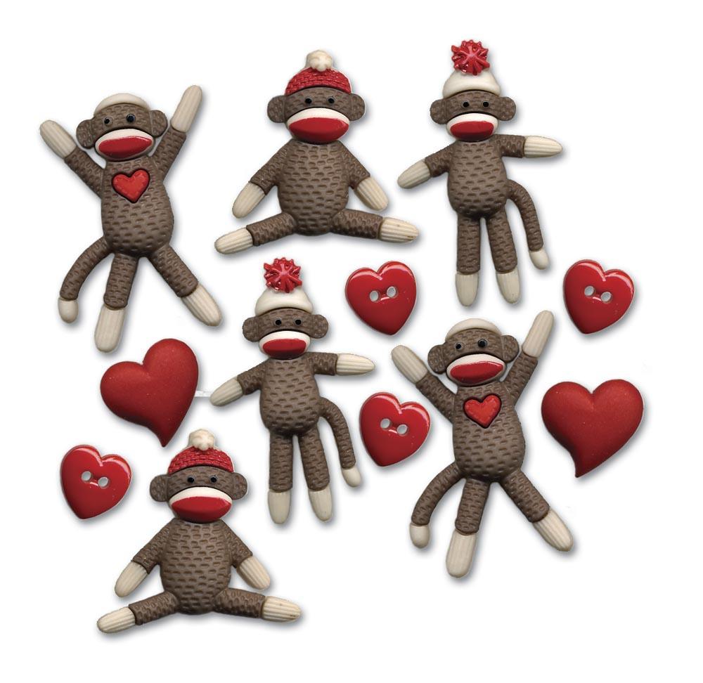 Sock Monkey Buttons Ii Wwwhomesewcom