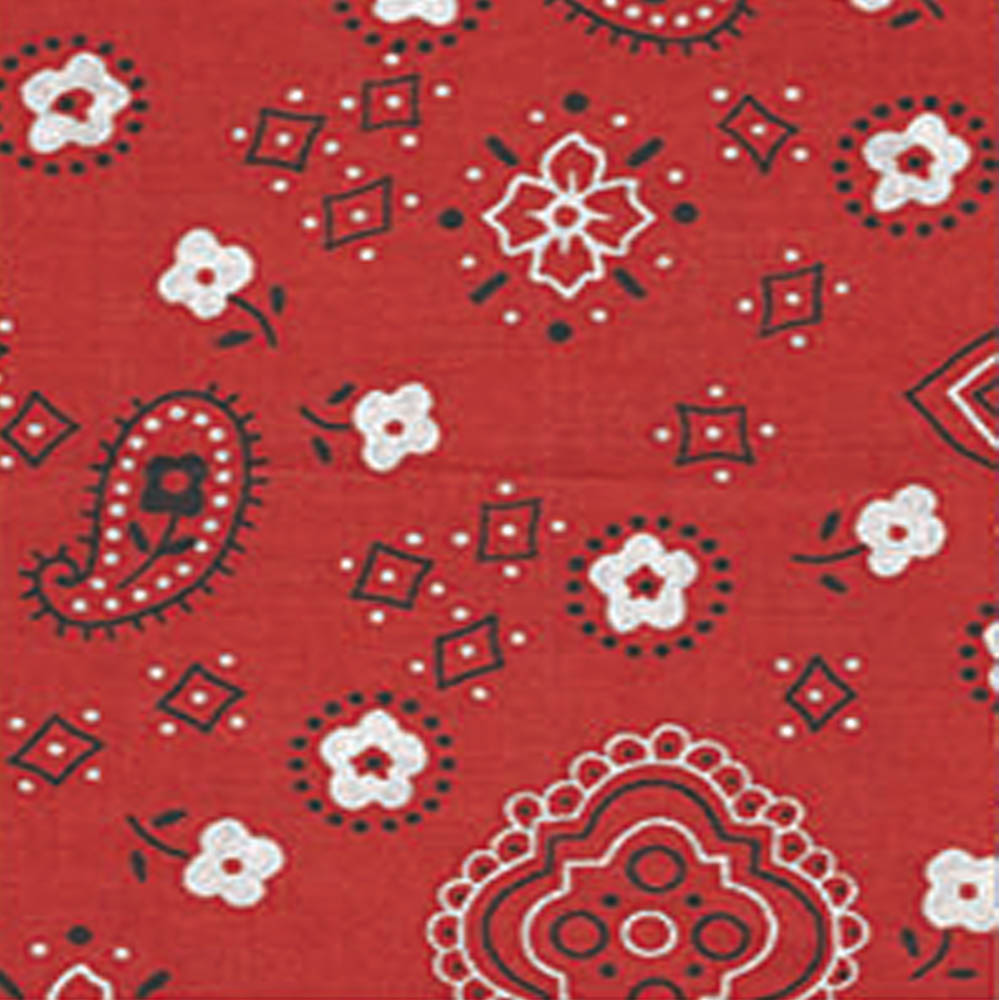 Bandana Print Fabric By The Yard