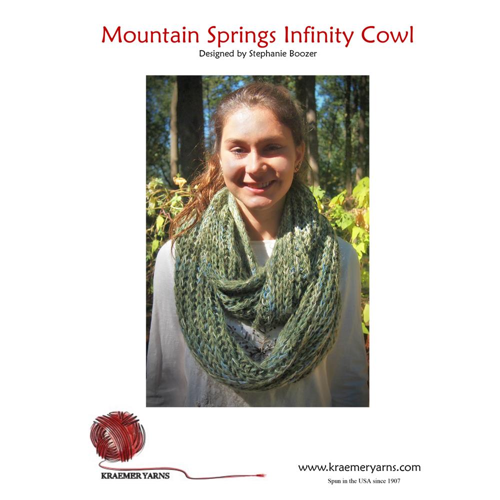 Mountain Springs Infinity Cowl Pattern-www.homesew.com