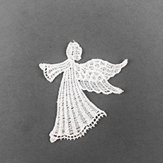 Sew-On White Angel Applique