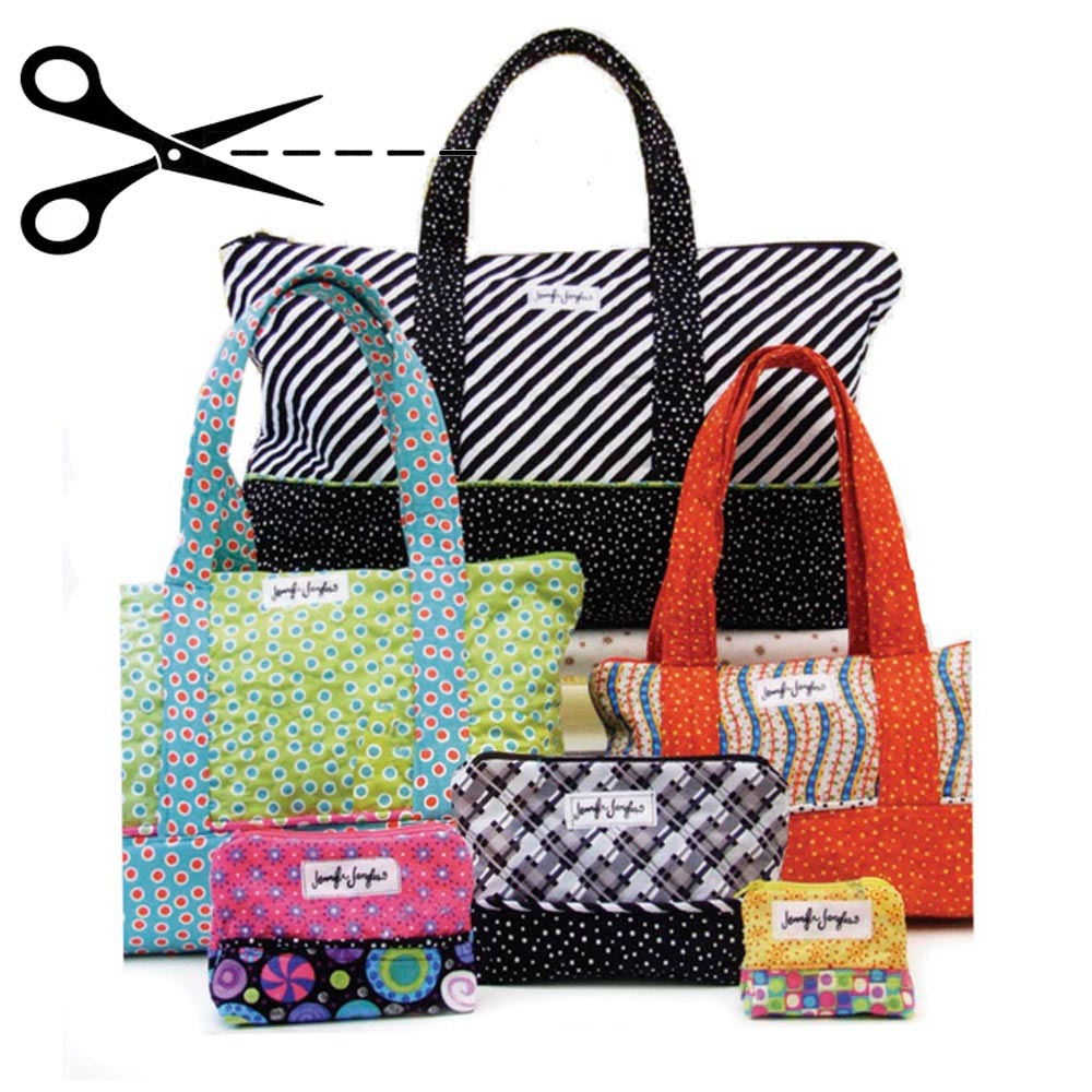 Quilted Knitting Bag Pattern : Quilted bags for everything pattern homesew