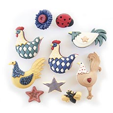 Country Chicks Buttons