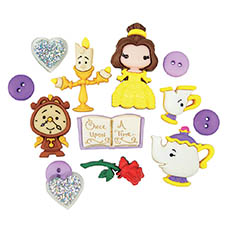 Beauty and the Beast Buttons