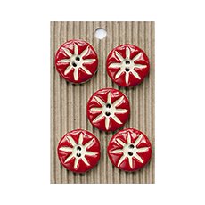 Red Star Ceramic Buttons