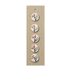Wispy Peach Flower Ceramic Buttons