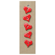 Red Hearts Ceramic Buttons