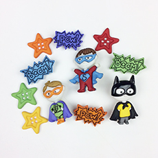 Super Heroes Buttons