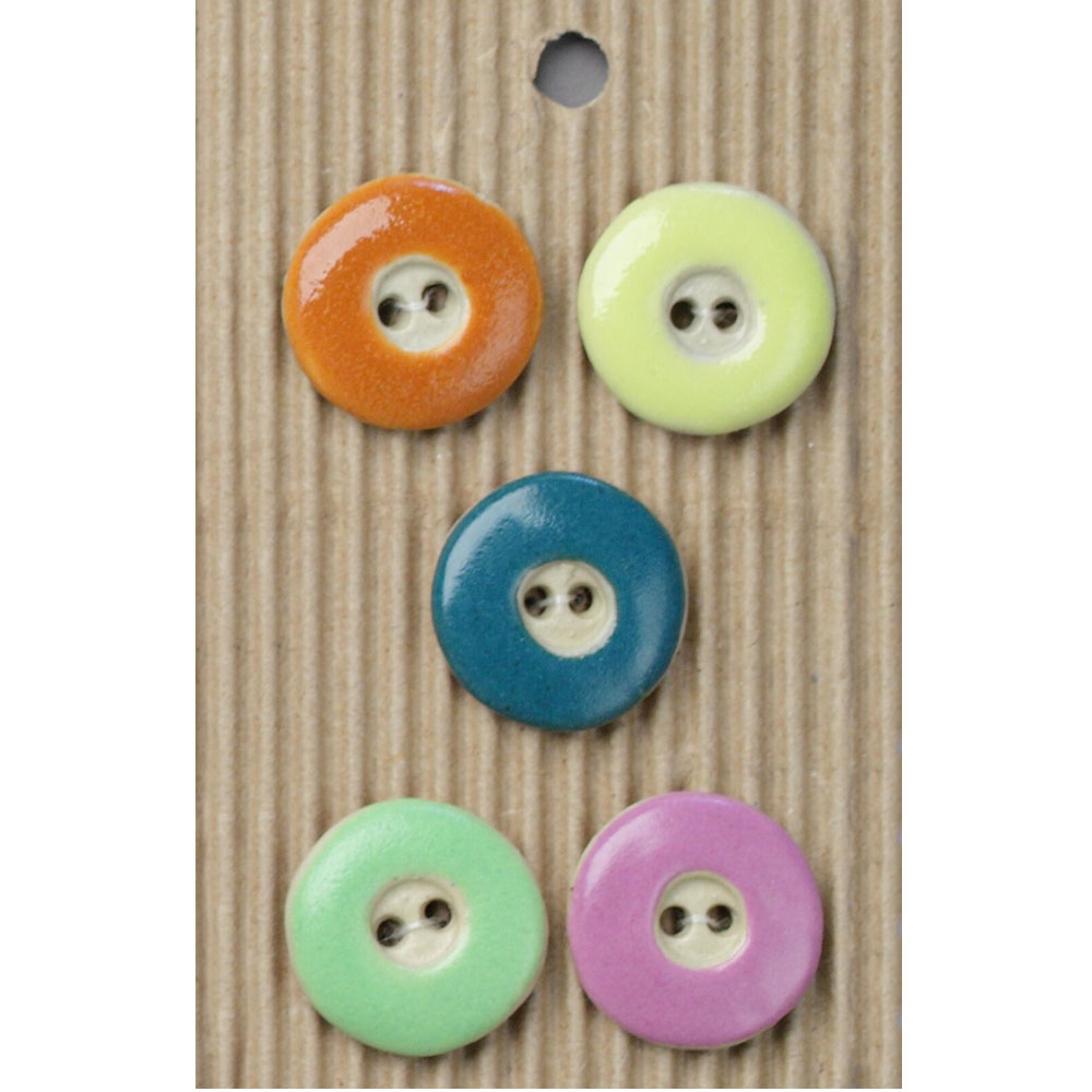 Colorful Round Ceramic Buttons-www.homesew.com