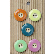 Colorful Round Ceramic Buttons