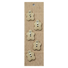 Gingerbread Ceramic Buttons
