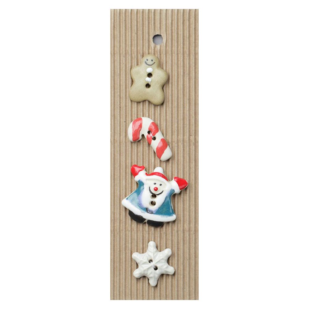 Christmas Mix #2 Ceramic Buttons-www.homesew.com