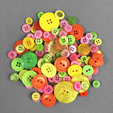 Bright Spring Mix Buttons