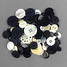 Black & White Mix Buttons
