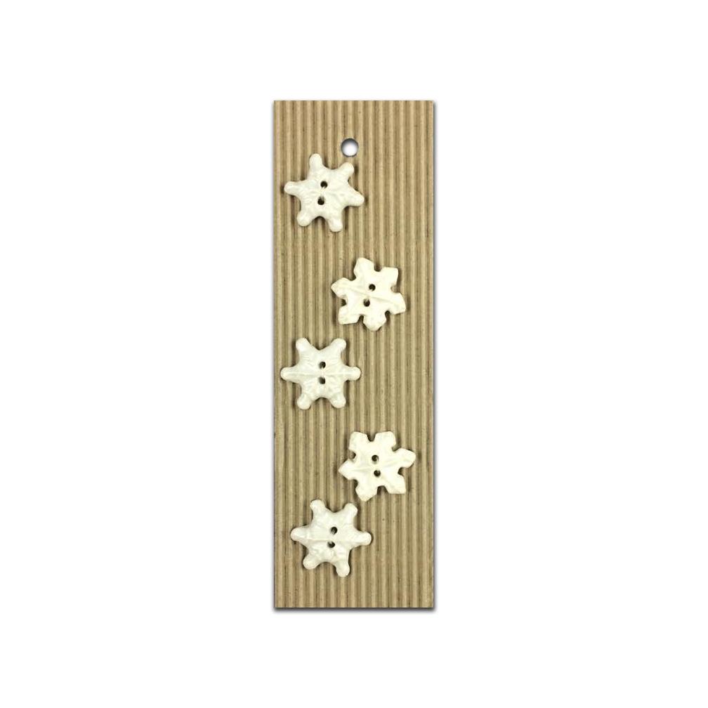 Snowflake Ceramic Buttons-www.homesew.com