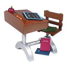 Desk and Desk Accessories for Dolls