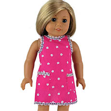 Hot Pink Apron for Dolls