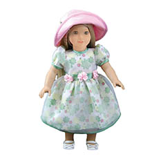 Pretty Floral Dress for Dolls