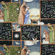 Holy Night Nativity All-Over