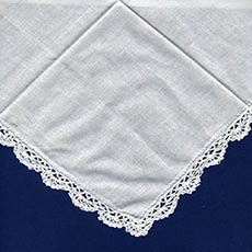 Hankie with Crocheted Edge- 4 pack