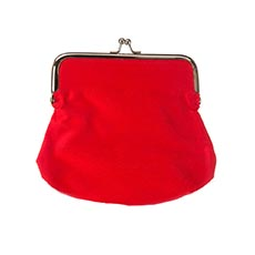 Red Cotton Coin Purse-6