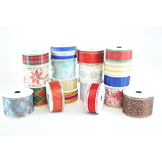8-Pack Assorted Wired Edge Ribbons