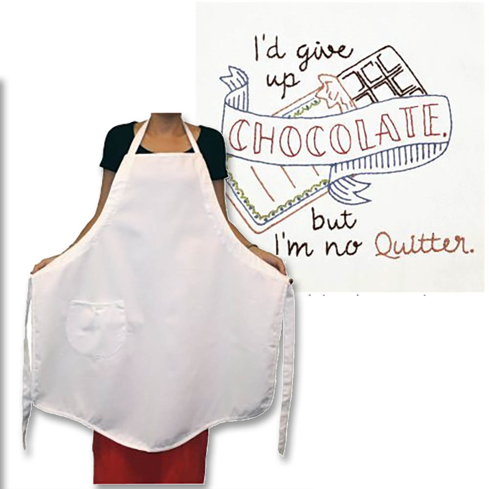 Pre-Stamped Apron - Chocolate