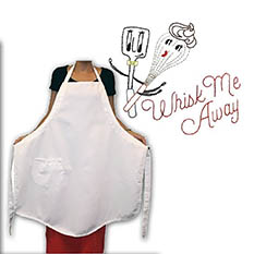 Pre-Stamped Apron-Whisk Me Away