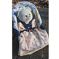 Two Infant Car Seat Blankets-Knit Pattern