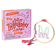 Make Your Own - Letter Embroidery Hoop Kit