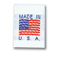 Made in USA - Nylon Woven Tags