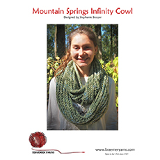 Mountain Springs Infinity Cowl Pattern