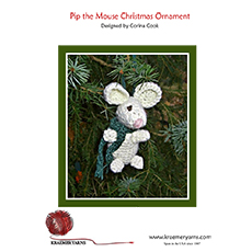 Pip the Mouse Crochet Ornament Pattern