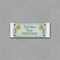 Quick Ship Woven Label Style #203- 10pk