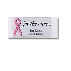 Style 33-for the cure...-Two Line Label