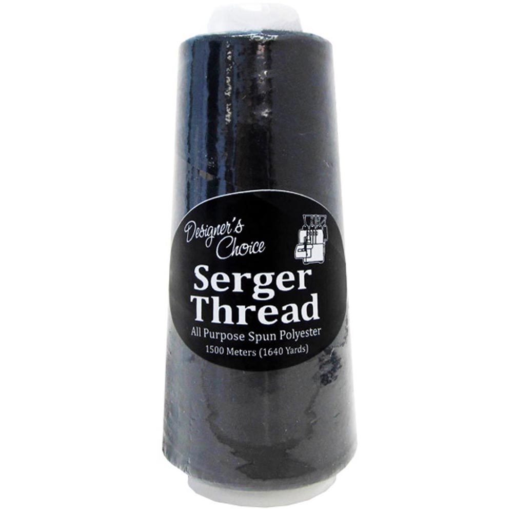 Polyester Serger Thread-Black or White