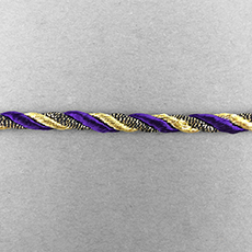 Purple & Gold Twisted Cording (5yds)