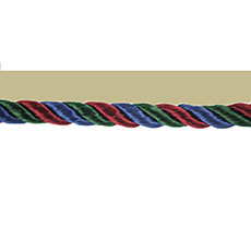 Tri-Colored Flanged Piping Cord  -10 yd.