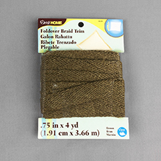Jute Foldover Braid Trim