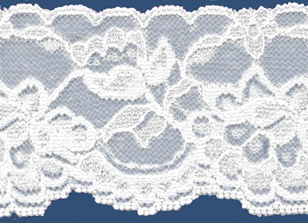 2-3/8 White Stretch Lace