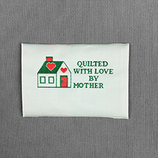 Quilter's Label - House with Heart